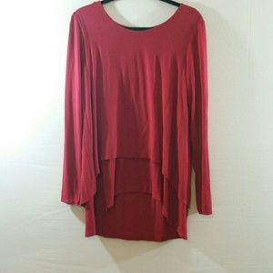 Soft Surroundings Cranberry Perfect Layers Top